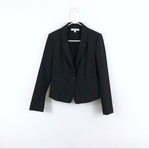Elizabeth and James Black One Button Blazer Career